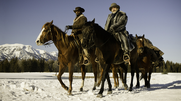 Christoph Waltz (right, with Jamie Foxx) stars in Quentin Tarantino's new film Django Unchained. (The Weinstein Company)