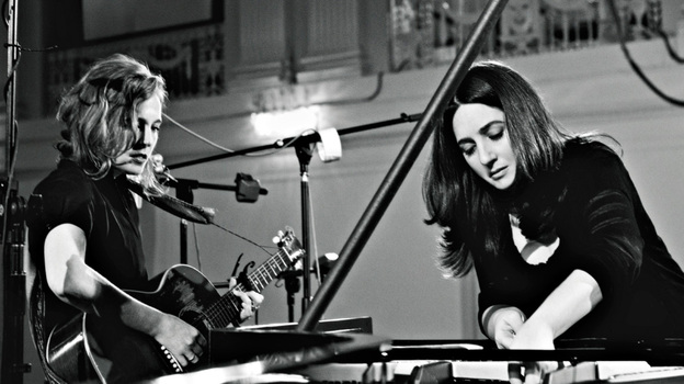Classical pianist Simone Dinnerstein and singer-songwriter Tift Merritt have an album coming out in March. (Sony Classical )