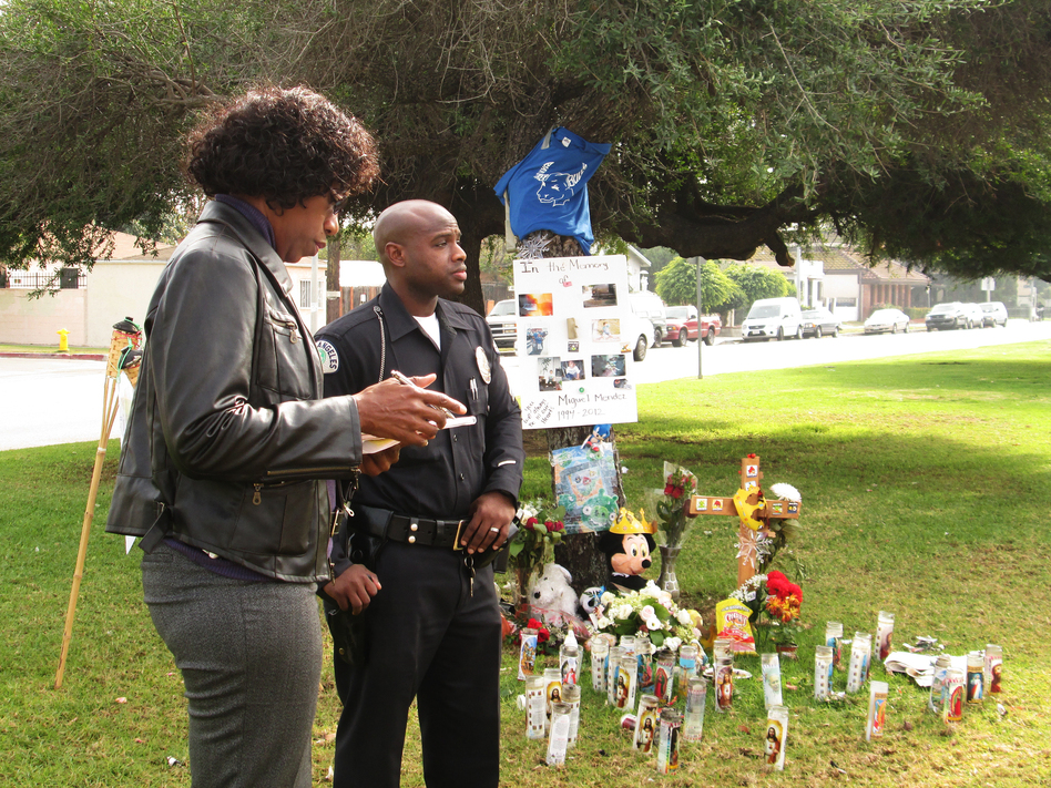 Officers Carol Mitchell and John Hill investigate the death of a disabled teen who was struck and killed by a hit-and-run driver in Los Angeles.
