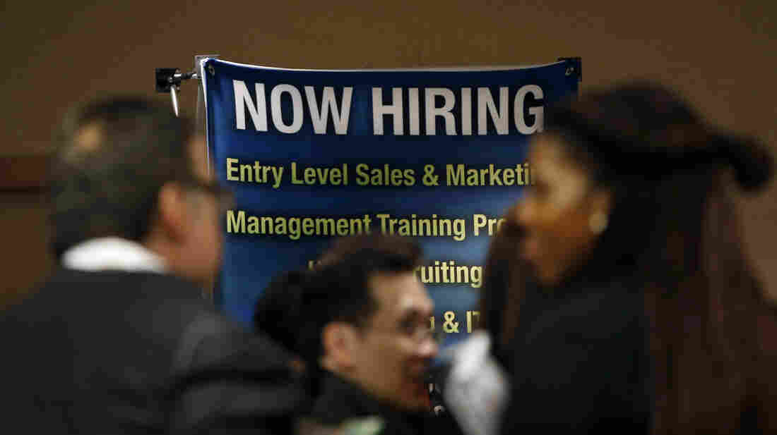 The scene at a career fair in New York City last fall.
