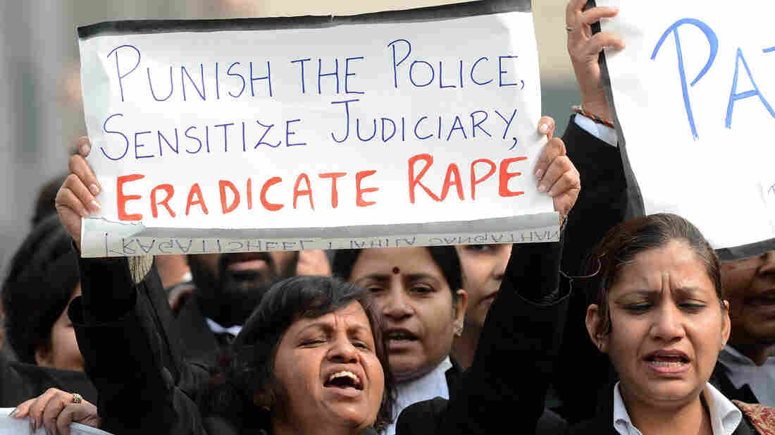 Protests continue, such as in New Delhi today.
