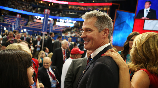 Sen. Scott Brown, R-Mass., attends the Republican National Convention in Tampa, Fla., on Aug. 30. Scott lost his re-election bid, but could be running for office again in a matter of weeks. (Getty Images)