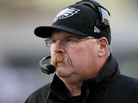 Head coach Andy Reid of the Philadelphia Eagles looks on during a game against the Washington Redskins on Dec. 23, 2012 in Philadelphia.