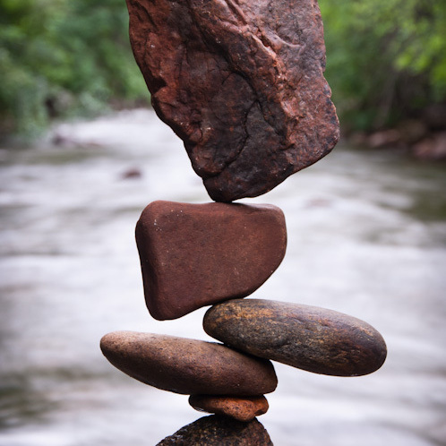 Stone balancing art created by Gravity Glue.