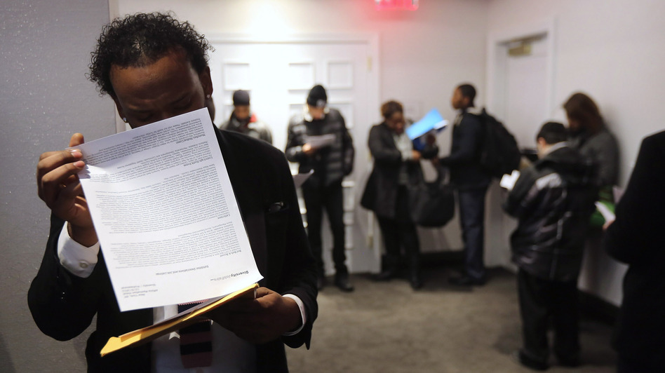 "Looking for work: The scene at a ""diversity job fair"" in Manhattan last month. (Getty Images)"