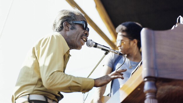 Professor Longhair performs at the New Orleans Jazz & Heritage Festival, circa 1970. (Redferns)