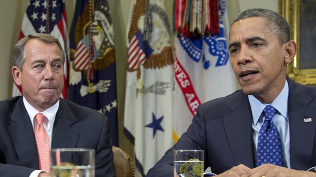 President Obama and House Speaker John Boehner at the White House in November. (AP)