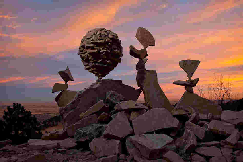Stone balance art by Gravity Glue
