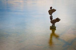 Stone balance art by Gravity Glue
