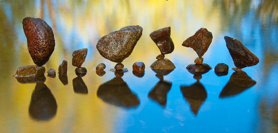 Stone balance art by Gravity Glue.