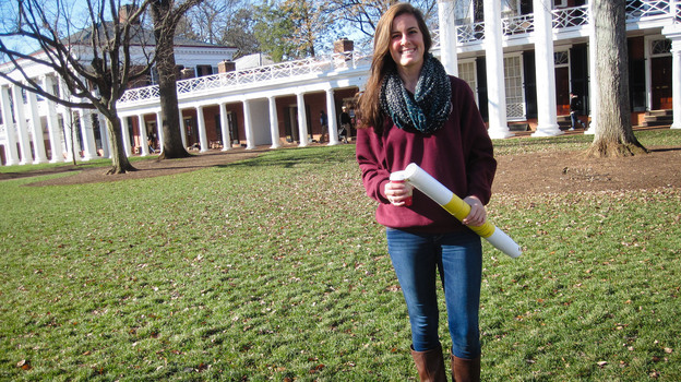 Meredith Was, a senior at the University of Virginia, heads a chapter of the mental health advocacy group Active Minds. (Jenny Gold for NPR)