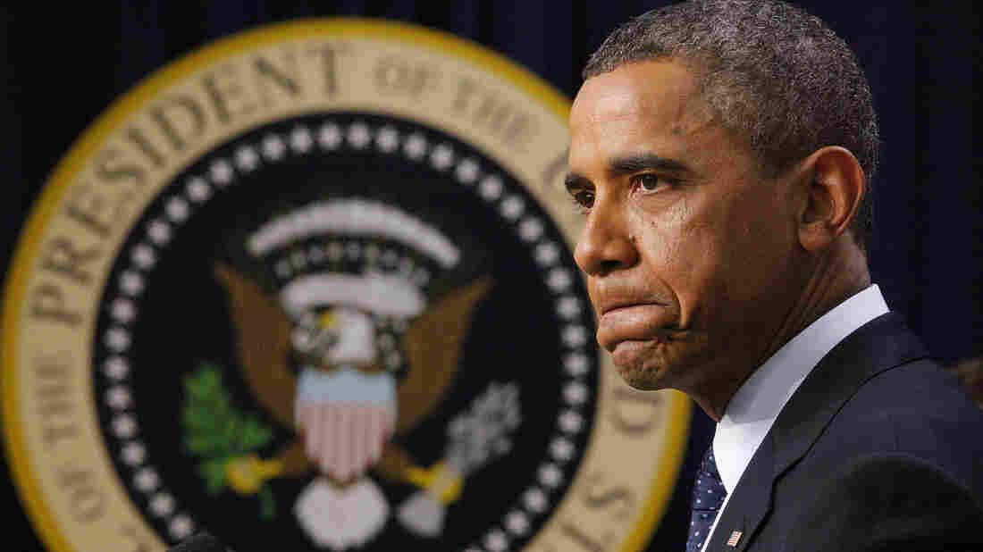 President Obama pauses as he speaks about the fiscal cliff on Monday. Some progressives say the president was not aggressive enough with Republicans during budget talks and are hoping he is stronger in his second term.