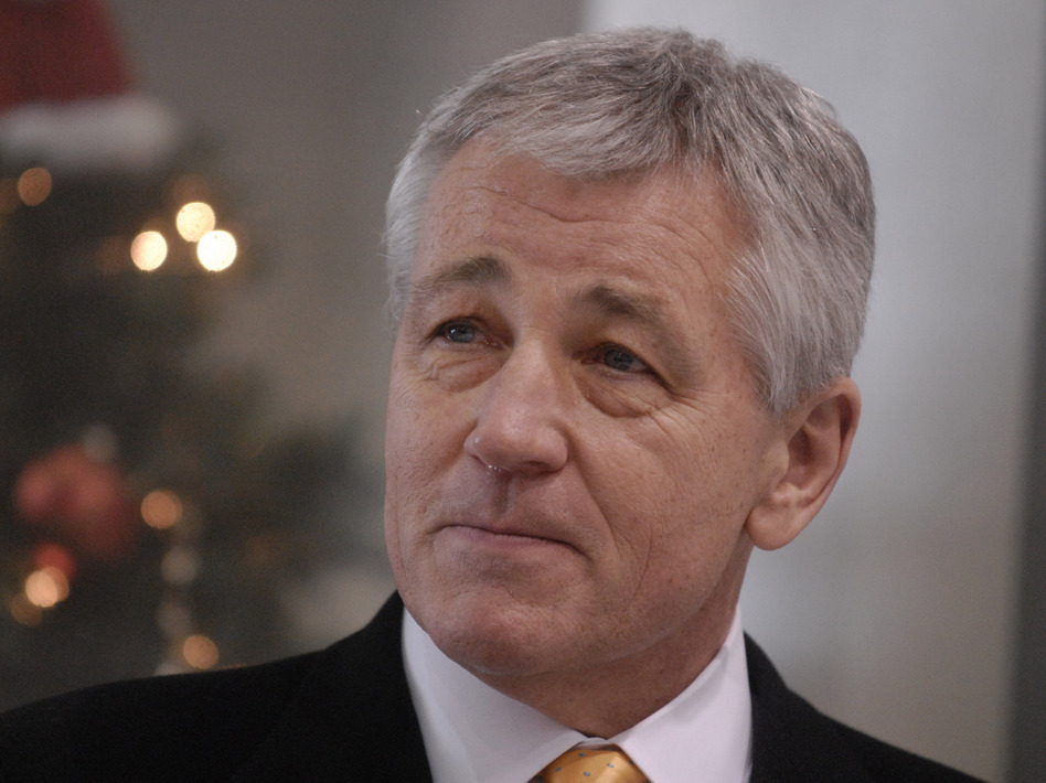 Former Sen. Chuck Hagel, seen here in 2008, is reported to be President Obama's pick to be the next defense secretary. (Dave Weaver/AP)