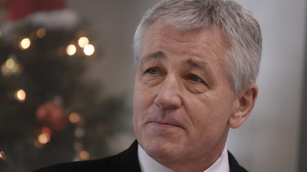 Former Sen. Chuck Hagel, seen here in 2008, is reported to be President Obama's pick to be the next defense secretary. (AP)