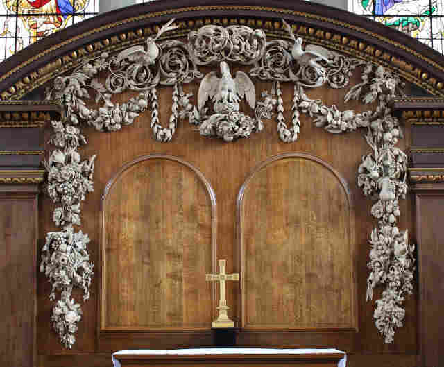 Grinling Gibbons' carving at the St. James Church in London is what moved him to become a professional wood-carver.