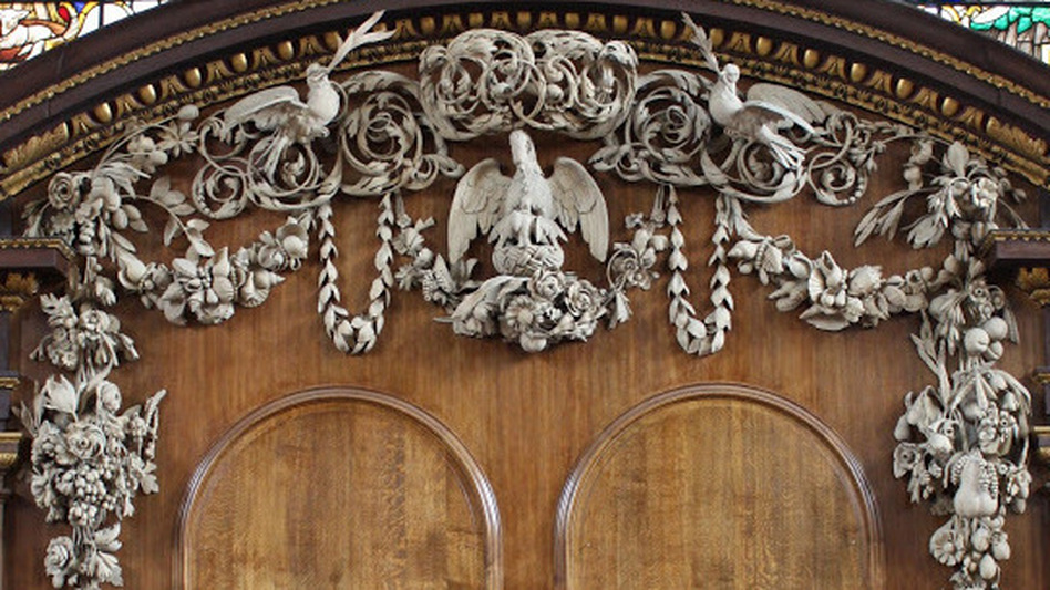 Grinling Gibbons' carving at the St. James Church in London is what moved him to become a professional wood-carver. (Courtesy of David Esterly)