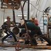 Men hard at work in oil-booming North Dakota.