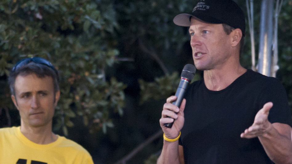 Lance Armstrong, seen here at a LIVESTRONG Challenge Ride in October 2012, might be willing to confess to doping — in exchange for an easing of his lifetime ban, according to reports. (Getty Images)