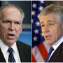 The nominees: John Brennan (left), who is President Obama's choice to head the CIA; and former Sen. Chuck Hagel, R-Neb., who the president has asked to be secretary of defense.