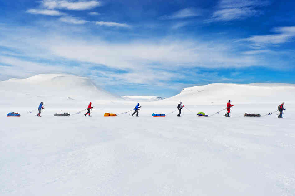 """A race that follows in the path of the famous explorer Roald Amundsen brings the contestants to the Hardangervidda Mountainplateu, Norway. ... [The] exact same route Amundsen used to prepare for his South Pole expedition in 1911 is still used by explorers today."""