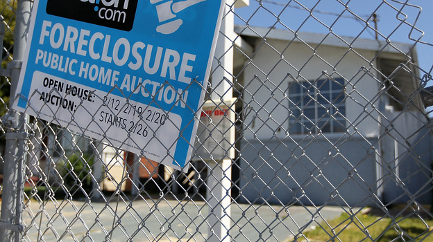 April 2011: A foreclosure sign in front of a home in Richmond, Calif. (Getty Images)