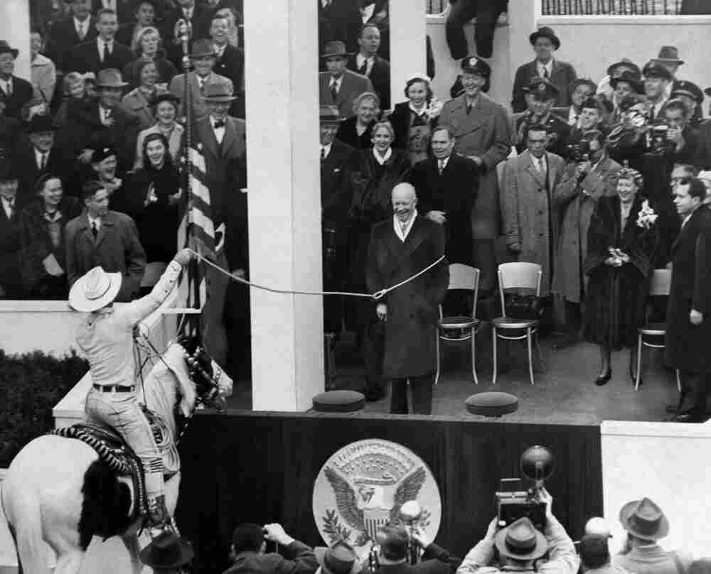 That's right. During Dwight Eisenhower's inaugural parade in 1953, the president was lassoed by cowboy Monte Montana.