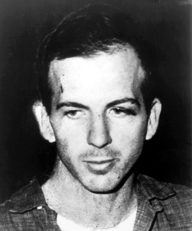 Lee Harvey Oswald on Nov. 23, 1963, after his arrest for President Kennedy's assassination. The next day, Oswald was shot and killed as he was being moved from a Dallas police station to the local county jail.