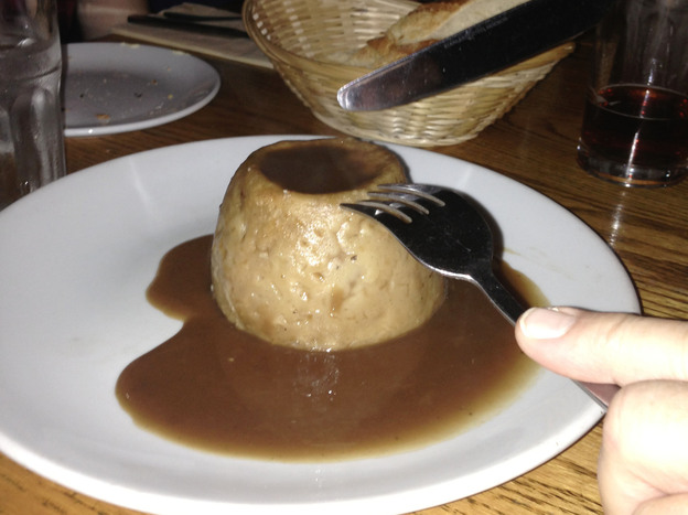 You say Steak & Kidney Pie, I say Gravy Volcano.