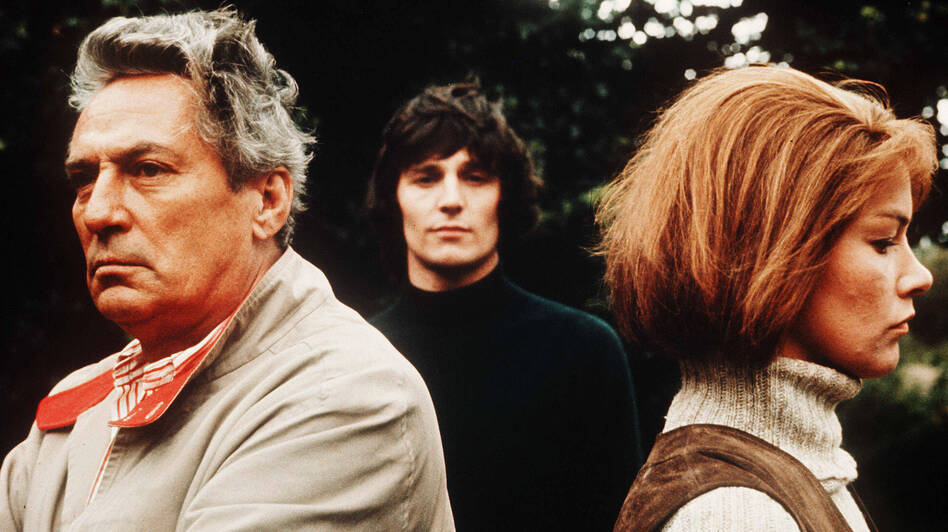 John Schlesinger's 1971 film  Sunday Bloody Sunday has just been released on Blu-ray. The film's complex love triangle starred Peter Finch, Murray Head and Glenda Jackson. (The Kobal Collection)