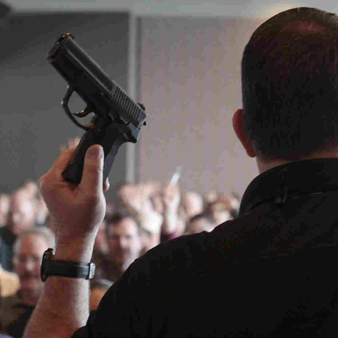 Firearm instructor Clark Aposhian conducts a concealed-weapons class for teachers, sponsored by the Utah Shooting Sports Council, in West Valley City, Utah. Across the country, school districts and other entities are hoping to better prepare staff to respond in a shooting situation.