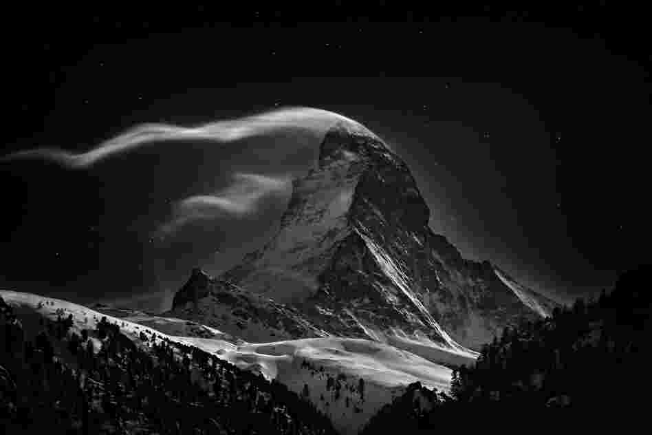 """The Matterhorn ... at full moon."""