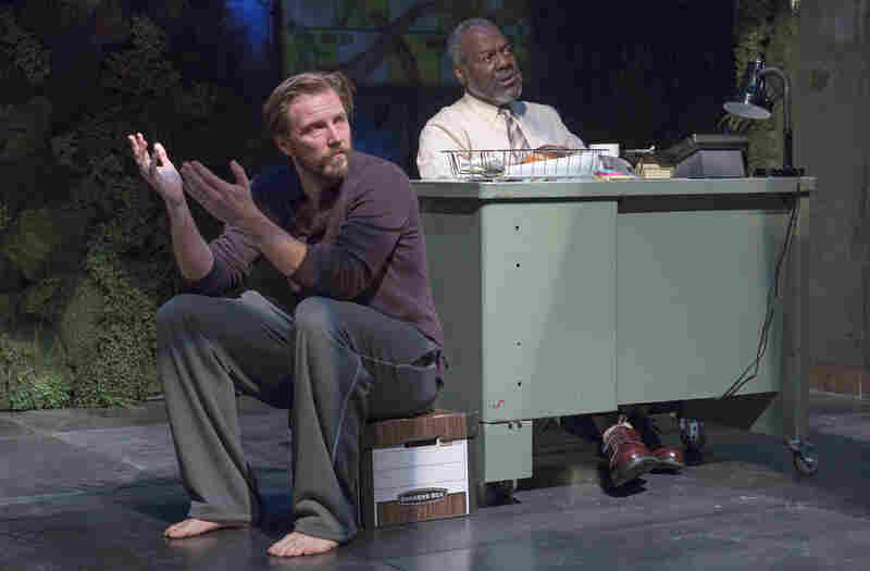 Quiara Alegria Hudes' Pulitzer Prize-winning drama, Water by the Spoonful, opens off-Broadway on Tuesday. Above, Bill Heck as Fountainhead and Frankie R. Faison as Chutes & Ladders in the play, directed by Davis McCallum.