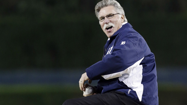 Former Detroit Tigers pitcher Jack Morris throws out the ceremonial first pitch before Game 3 of the American League Championship Series between the Detroit Tigers and New York Yankees on Oct. 16. Morris is a candidate for the National Baseball Hall of Fame this year. (AP)