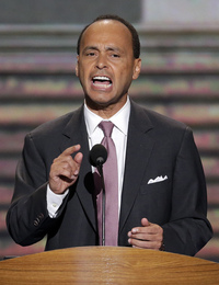 Rep. Luis Gutierrez, D-Ill., has given up a more senior post to sit on the House Judiciary Committee. Here, he speaks at the Democratic National Convention in Charlotte, N.C., in September.