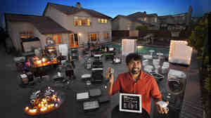 Shwetak Patel (foreground), a MacArthur Fellow, recognized that every device in a home has a unique signature that can be used to track energy usage. The data collected by Patel's system showed that digital video recorders were responsible for 11 percent of this home's powe
