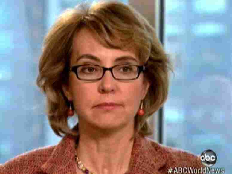 Former Rep. Gabrielle Giffords, D-Ariz., during her interview with ABC's Diane Sawyer.