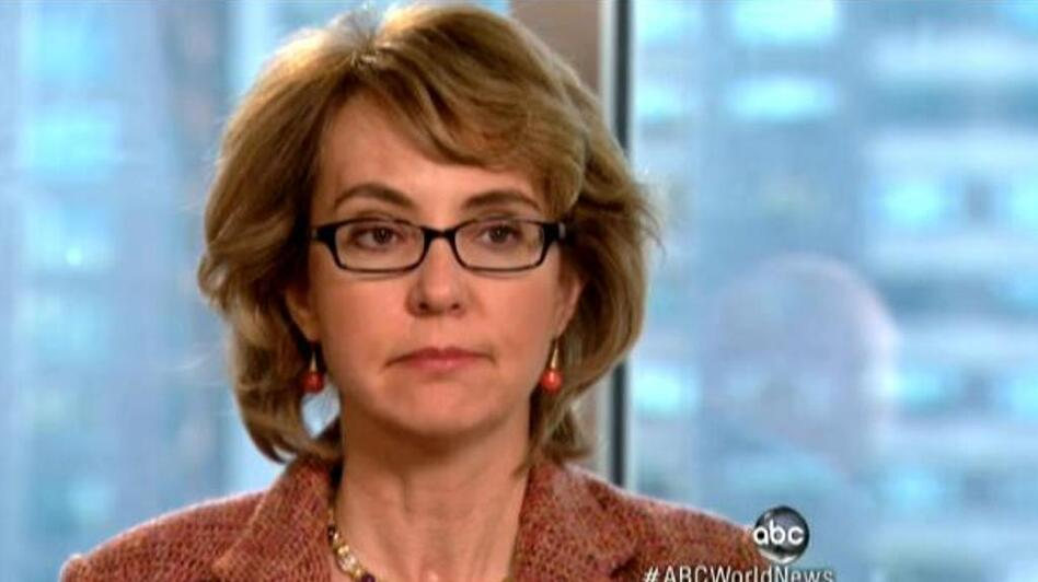 Former Rep. Gabrielle Giffords, D-Ariz., during her interview with ABC's Diane Sawyer. (ABCNews.com)