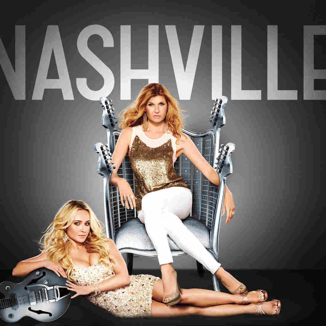 Connie Britton (pictured) and Hayden Panetierre star as country singers of different generations on the ABC series Nashville.
