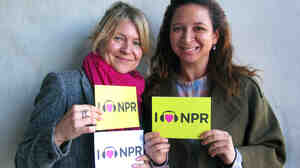 Maya Rudolph and Gretchen Lieberum of Princess at NPR West