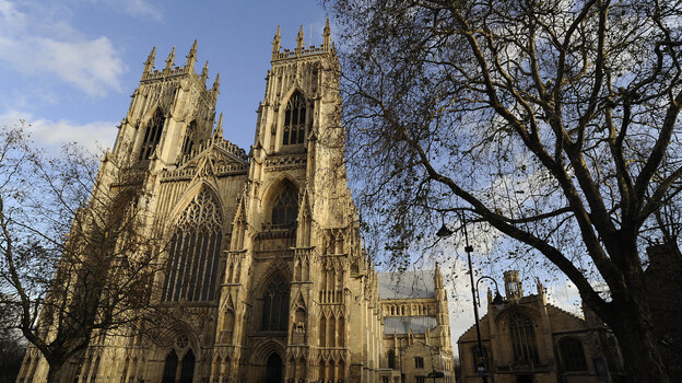 The stones of York Minster in northern England are decaying. Olive oil may be just the dressing the cathedral needs to preserve its Gothic architecture. (Reuters/Landov)