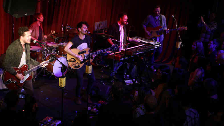 Local Natives performed at Apogee's Berkeley Street Studios in Santa Monica.