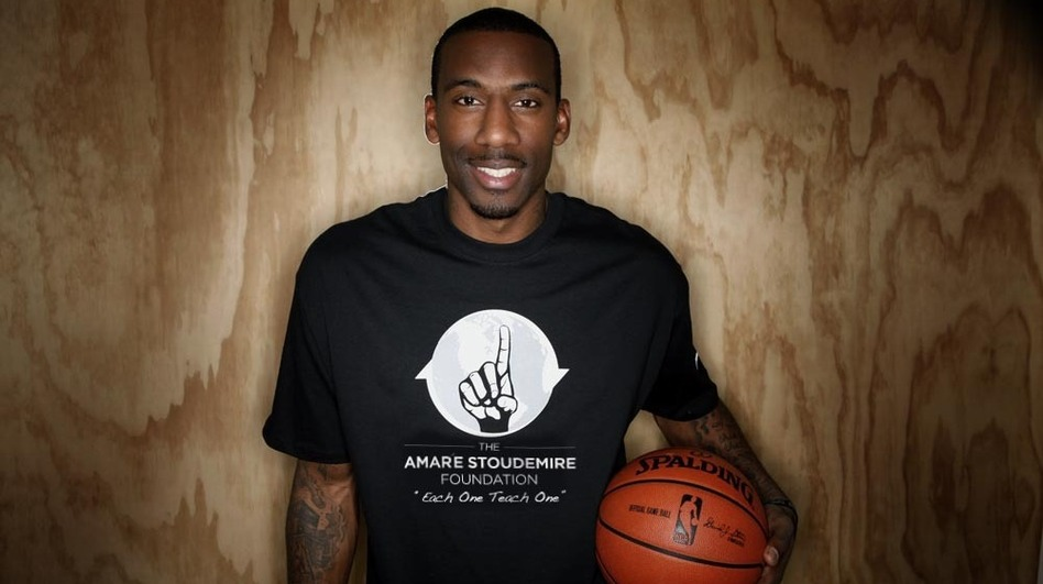 In addition to being the captain of the New York Knicks, a six-time NBA all-star, and a father of three, Amar'e Stoudemire is also an author. STAT #3: Slam Dunk is the latest in his series for middle-school-aged readers. (Scholastic & Klutz)