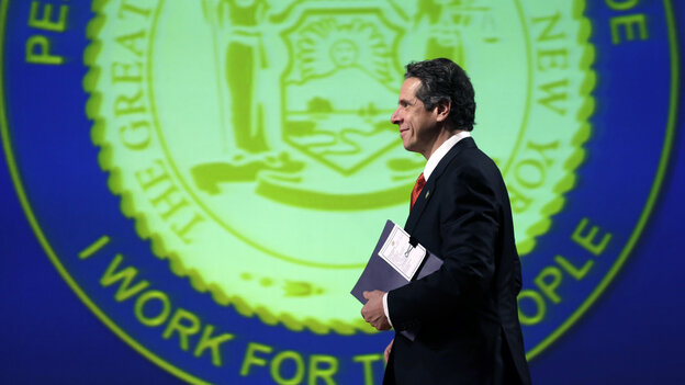 Gov. Andrew Cuomo, D-N.Y., walks to the podium Wednesday in Albany to deliver his third State of the State address.
