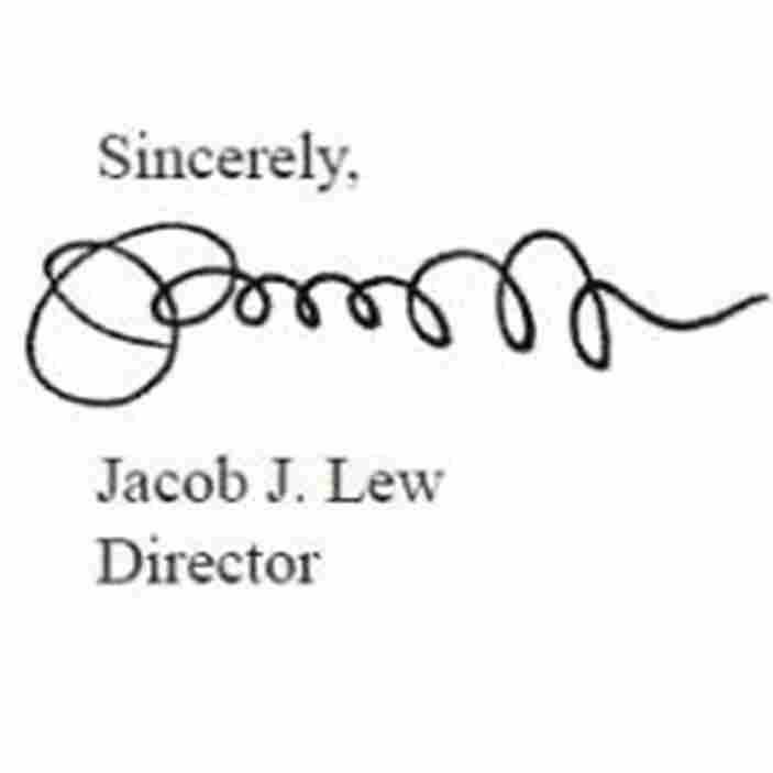 Signature? Doodle? Check How A Treasury Secretary Lew Might Sign Your Dollars