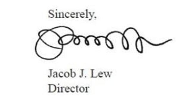 """Jacob """"Jack"""" Lew's signature, on the 2012 """"Mid-Session Review"""" of the federal budget. He was director of the Office of Management and Budget at the time. (WhiteHouse.gov)"""