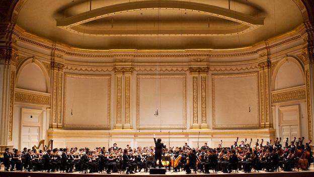Gustavo Dudamel conducts Simon Bolivar Symphony Orchestra of Venezuela at Carnegie Hall. (NPR)