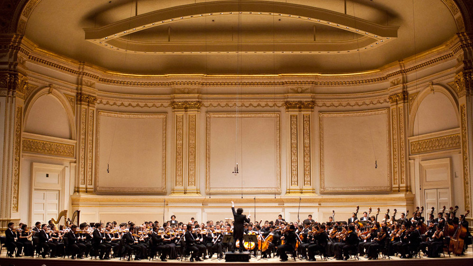 Gustavo Dudamel conducts Simon Bolivar Symphony Orchestra of Venezuela at Carnegie Hall. (NPR)
