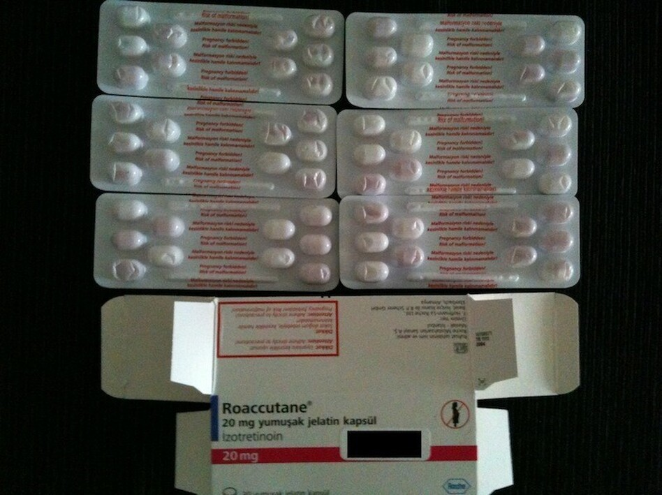 Acne medicine, in Turkish.