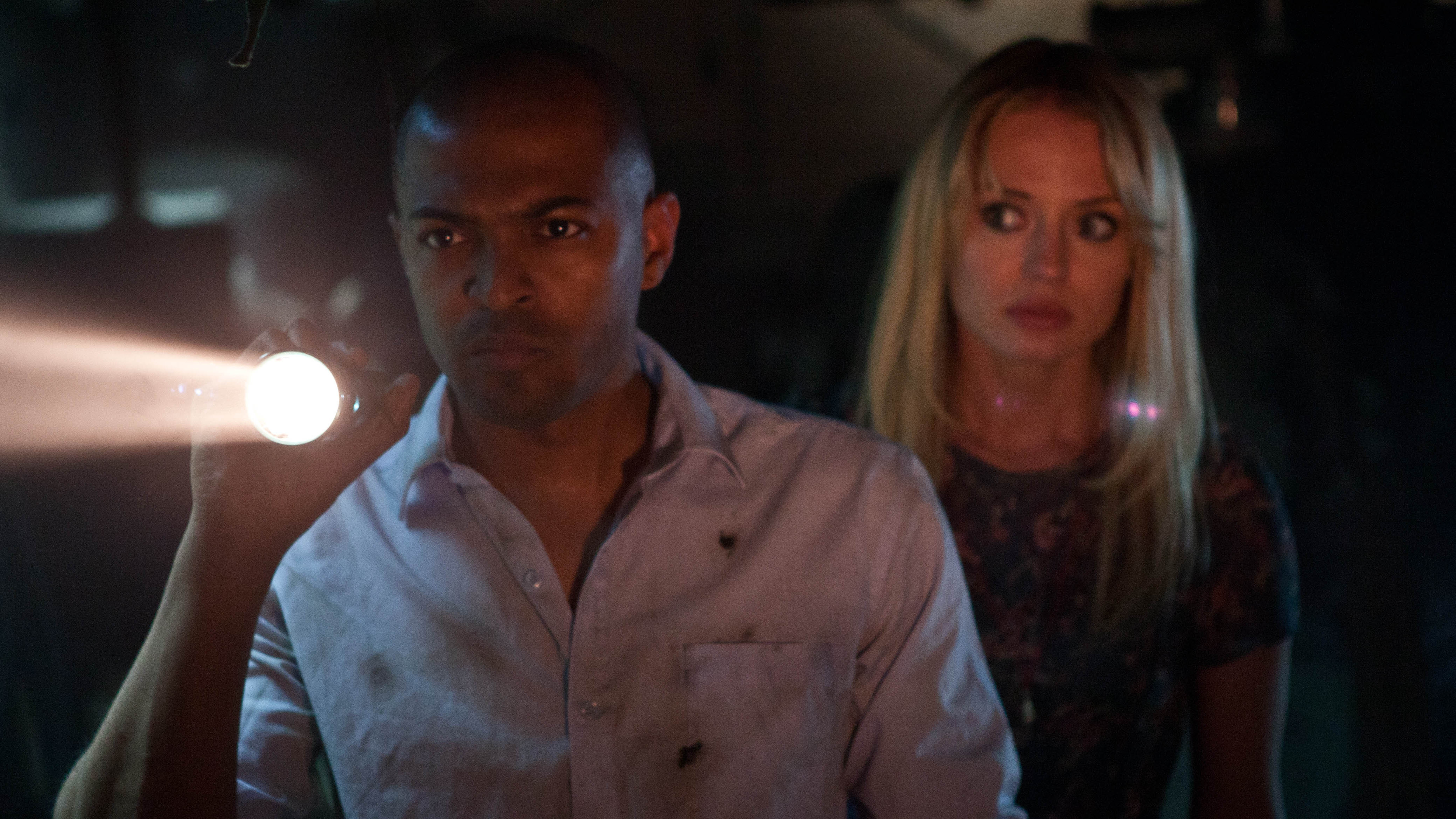 Charlie and Shelley must move past their messy breakup if they're to survive after a government plane crash-lands a deadly alien in their London neighborhood.