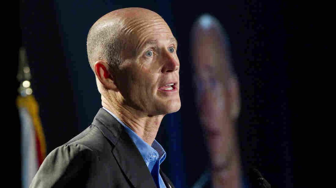 Florida Gov. Rick Scott speaks in Fort Lauderdale in May.